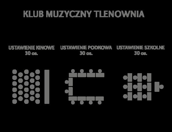 ustawienie krzeseł i stołów - sala konferencyjna Sztygarka Chorzów